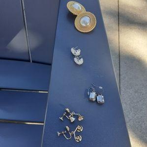 Bundle of 4 pr vtg & modern earrings
